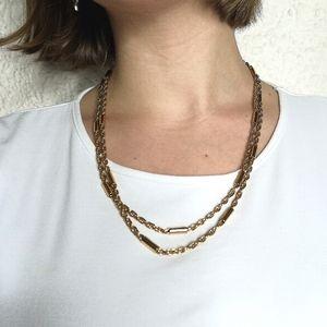 Long golden chain